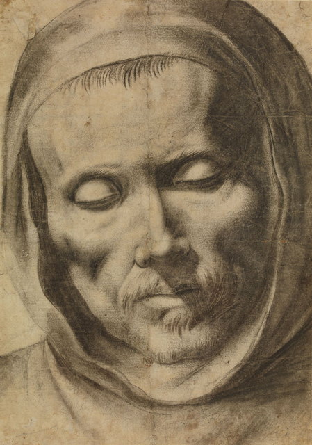, 'Head of a Monk,' 1625-1664, British Museum