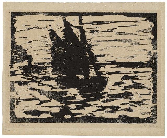 Emil Nolde, 'Segelboot', 1910, Print, Woodcut on oatmeal paper, Christie's