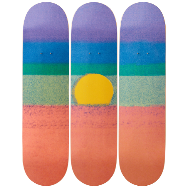 Andy Warhol, 'Sunset (Orange) Skateboard Decks', 2019, Artware Editions