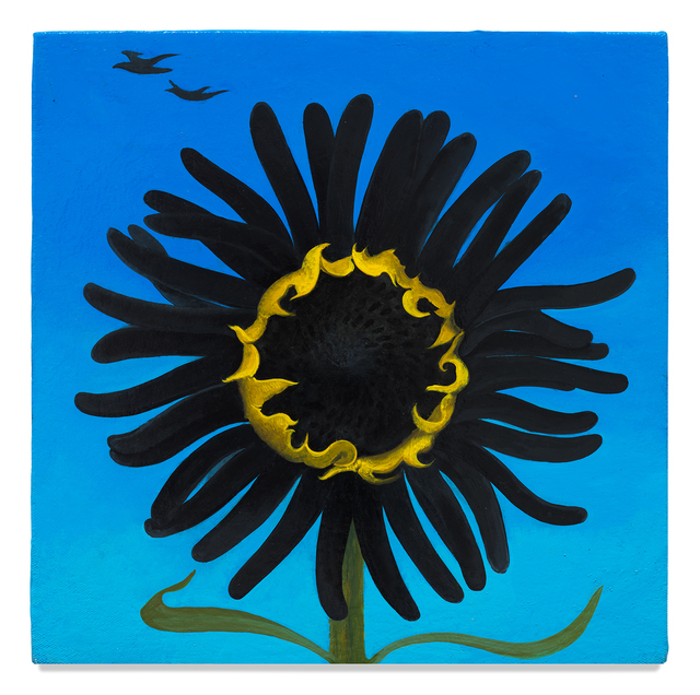 Inka Essenhigh, 'Black Sunflower', 2020, Painting, Enamel on panel, Center for Maine Contemporary Art (CMCA) Benefit Auction