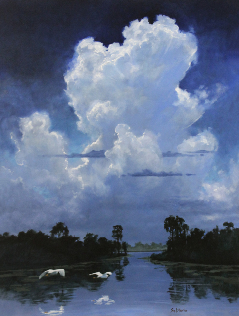 , 'Snow Egrets Under Summer Sky ,' 2018, LeMieux Galleries