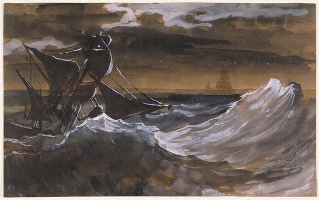 Théodore Géricault, 'Sailboat on the Sea', 1818-1819, J. Paul Getty Museum