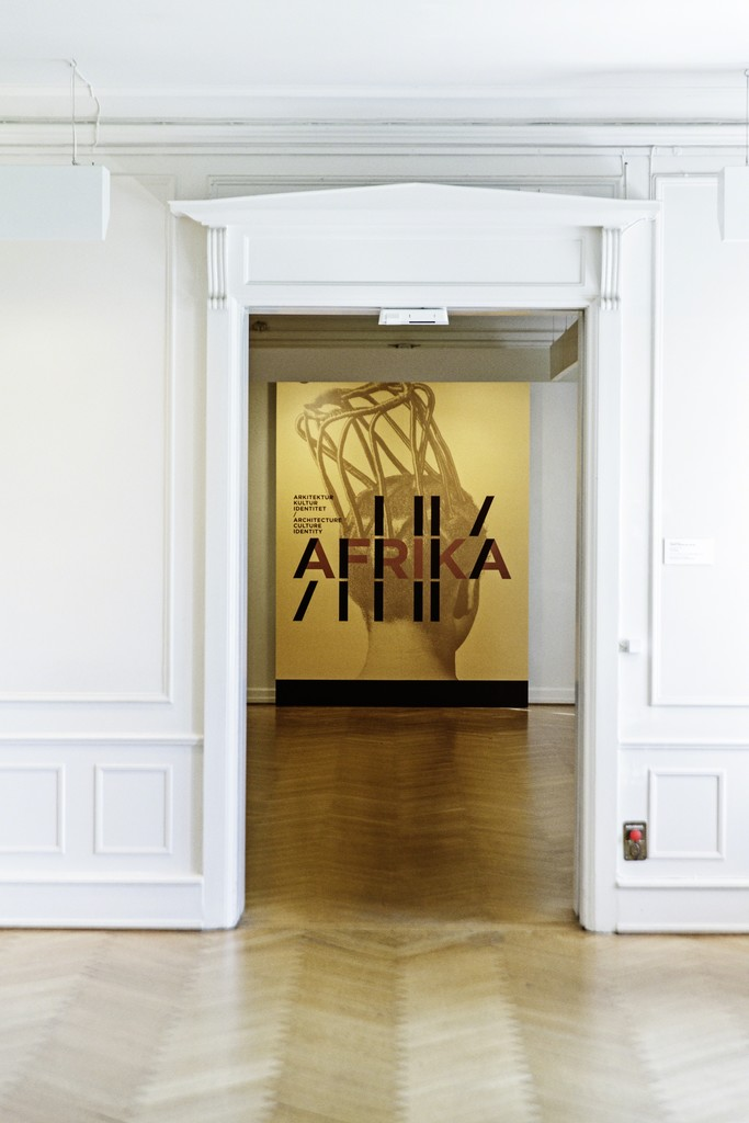 "Installation view of ""Africa: Architecture, Culture and Identity"" at Louisiana Museum of Modern Art, Humlebæk"