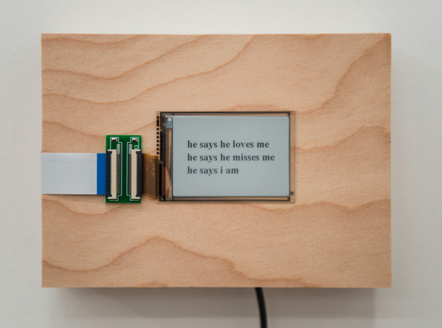 , 'he says...,' 2015/2016, Postmasters Gallery