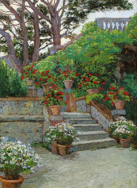 Hugo Charlemont, 'Garden in Brioni', ca. 1900, Galerie Kovacek