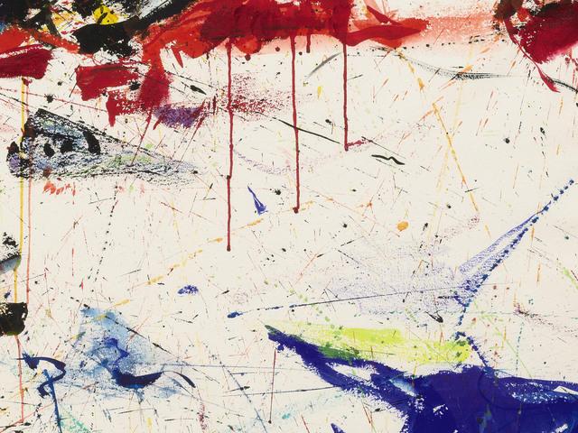 , 'White Line nº5 (detail),' 1959, Olivier Malingue