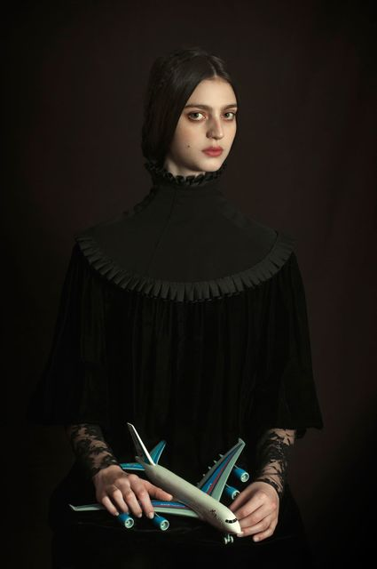 Romina Ressia, 'Girl Holding a Plastic Plane', 2019, House of Fine Art - HOFA Gallery