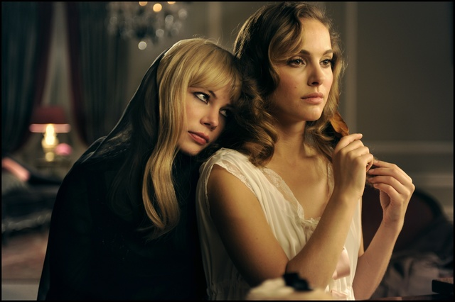 ", 'Michelle Williams and Natalie Portman in ""GREED, The New Fragrance by Francesco Vezzoli"",' 2009, MOCA, Los Angeles"