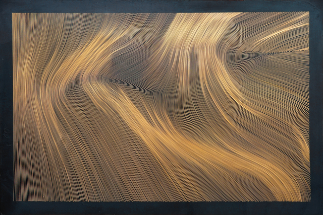 , 'Each Line One Breath - Black Copper,' 2017, PARKVIEW ART Hong Kong