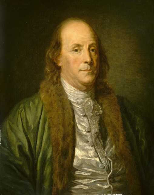 after Jean-Baptiste Greuze, 'Benjamin Franklin', 19th century, Painting, Oil on canvas, National Gallery of Art, Washington, D.C.