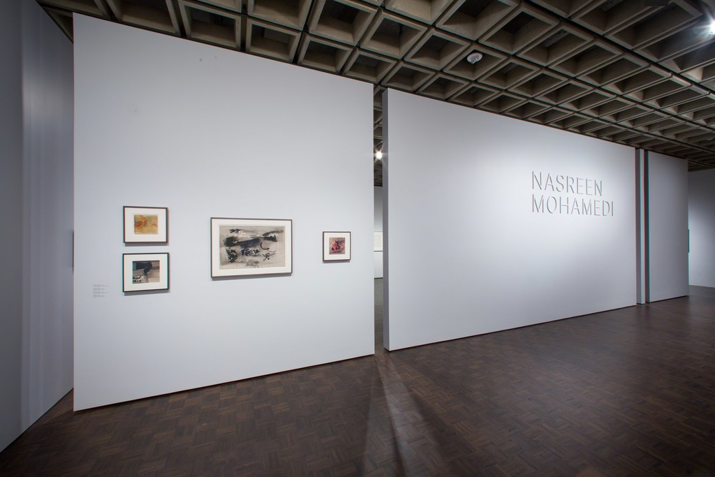 "Installation view of ""Nasreen Mohamedi"" at the Met Breuer, New York (2016). All photos copyright The Metropolitan Museum of Art."