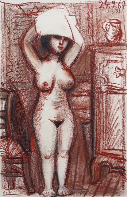 , 'Nude Woman Drying Her Hair,' 1967, Bureau of Interior Affairs