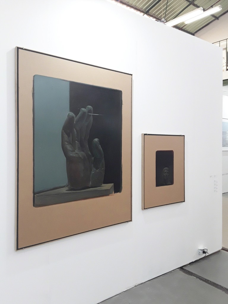 "From left to right: ""The Reference - Colossus"", Pedro Pascoinho, 2018; ""Efface II"", Pedro Pascoinho, 2018."