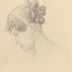 John Flaxman, 'Head of a Woman Looking Down (Theresa Turner?)', Drawing, Collage or other Work on Paper, Graphite, National Gallery of Art, Washington, D.C.