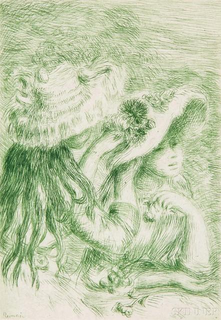Pierre-Auguste Renoir, 'Le chapeau épinglé - 3e planche', c. 1894, Skinner