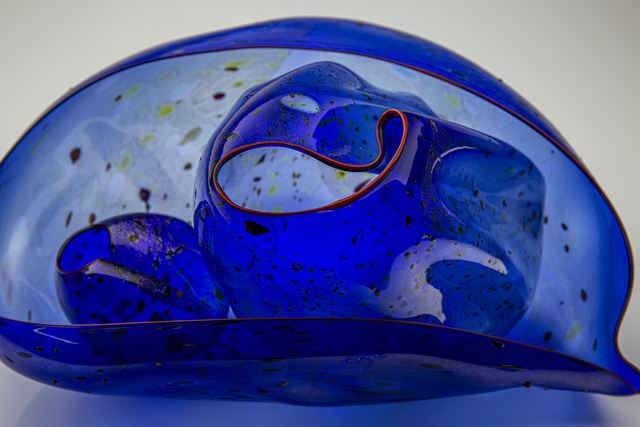 Dale Chihuly, 'Three Piece Cobalt Blue Seaform Set with Red Lip Wraps', 1996, Modern Artifact
