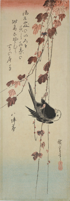 , 'Creeping Vine and Long Tailed Tit in Autumn,' ca. 1835, Ronin Gallery