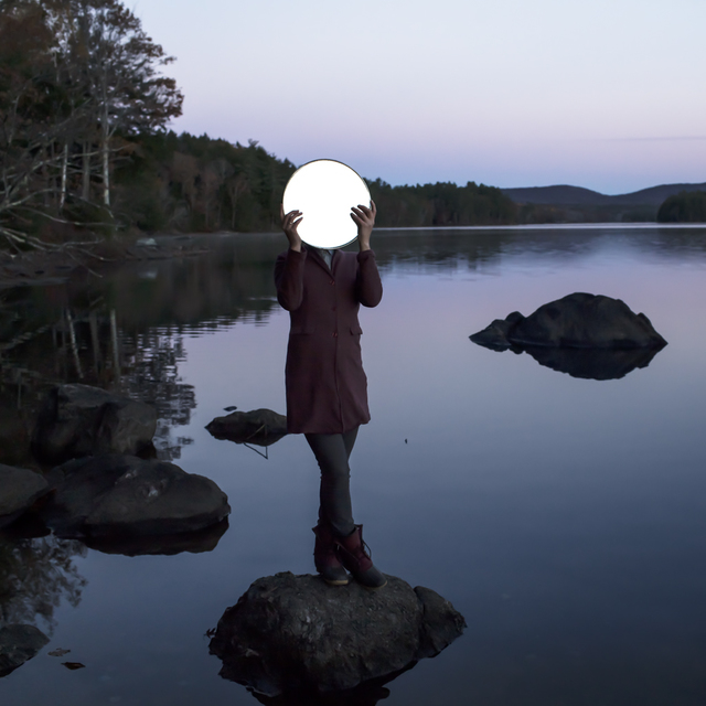 , 'Sadie and the Moon, Lake Megunticook, Maine,' 2013, Robert Klein Gallery
