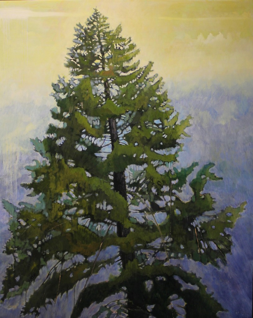 Tom Gale - Tree Top - 60x48 - oil on canvas - 2017
