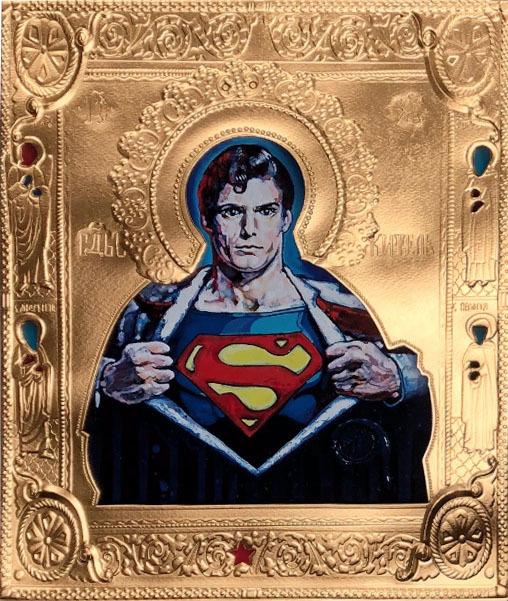 """, '""""St. Superman on Paper"""",' 2019, Julie Zener Gallery"""