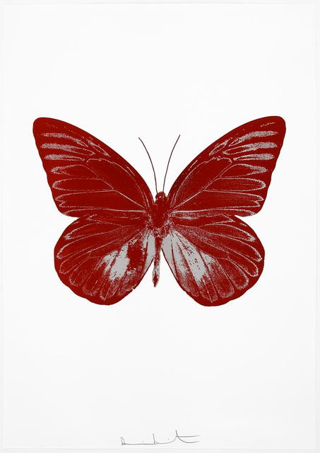 Damien Hirst, 'The Souls I - Chilli Red/Silver Gloss, ', 2010, Paul Stolper Gallery