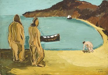 Bathers on a shore