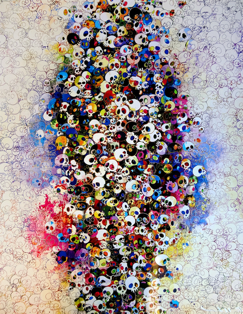 Takashi Murakami, 'Who's afraid of red, yellow, blue and death', 2011, Print, Offset lithograph with silver and silkscreen with spot UV varnishing, ARTETRAMA