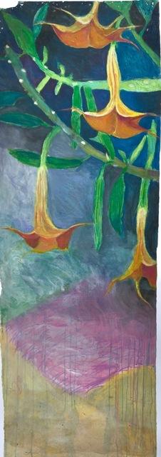 Donald Dreifuss, 'Bergmansia Charles Grimaldi #1', 2018, Painting, Watercolor, crayon on paper, CYNTHIA-REEVES