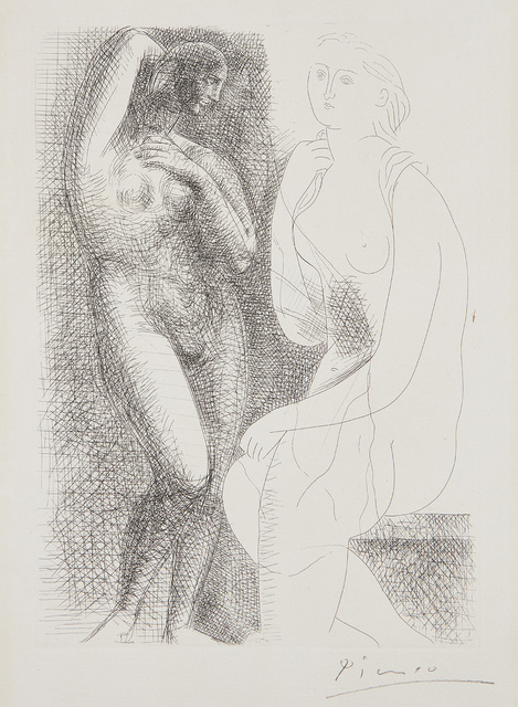 Pablo Picasso, 'Femme nue devant une statue (Naked Woman in Front of a Statue), plate 6 from La Suite Vollard', 1931, Phillips