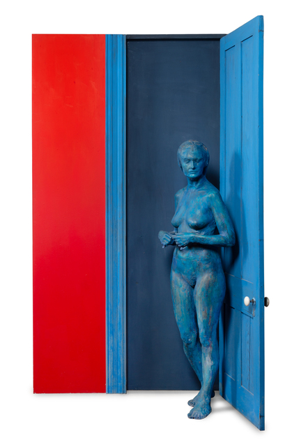 George Segal, 'Blue Girl Behind Blue Door', 1977, Hindman