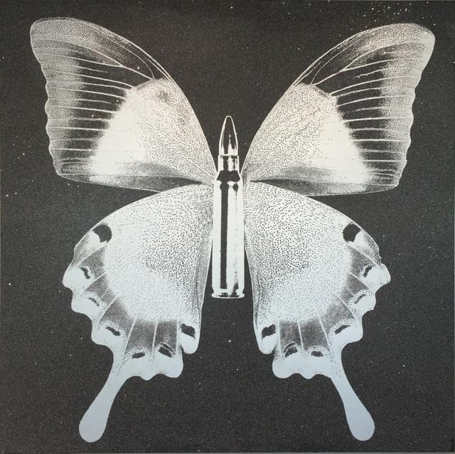 , 'BulletFly - Silver on Grey,' 2016, Art Angels