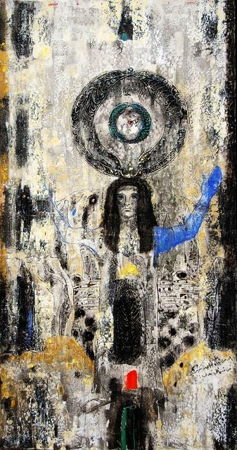 Nizar Sabour, 'THE SOUL OF MAALOULA', 2015, Painting, MIXED MEDIA ON CANVAS, Mark Hachem Gallery
