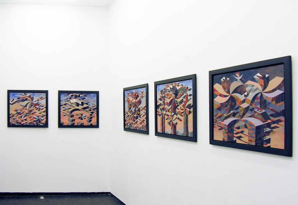Installation view of 'Original Show, Season One' Curated by Stephen Hepworth. Featuring Matthew Abbott (pictured), Carl Fudge, and Joey Køtting. June 21 - July 24, 2015