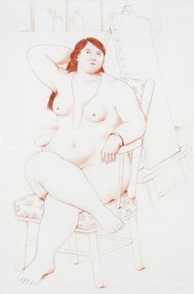 , 'Sitting Woman,' 2010, David Benrimon Fine Art