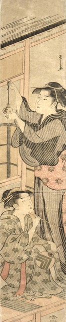 , 'Bijin in a Summer Kimono Holding a Goldfish Bowl,' ca. 1790, Ronin Gallery