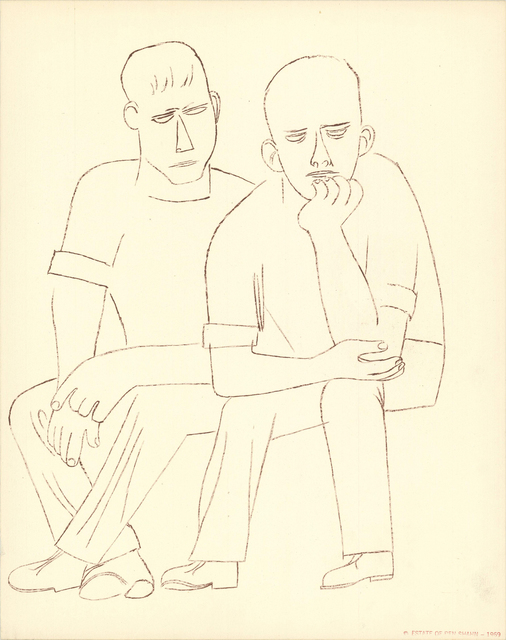 , 'Two Men Sitting,' 1969, ArtWise