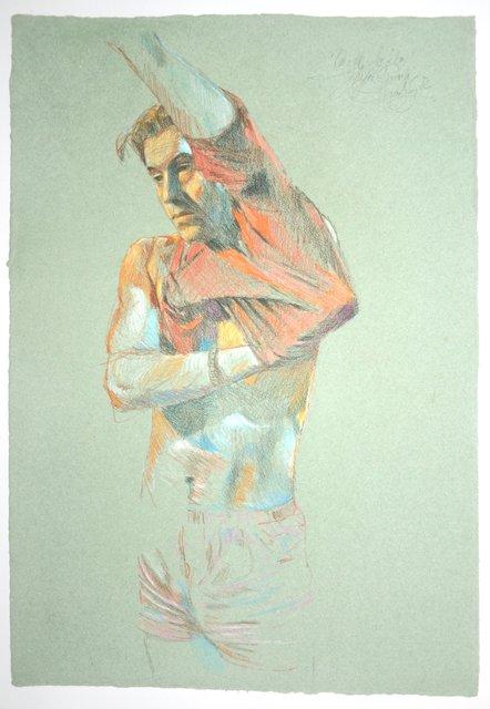 , 'Mann zieht sich T-Shirt an,' 1982, Galerie Kornfeld