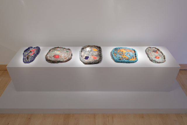 , 'Installation shot (l to r): Ashtray Series, 340, 255, 134, 141, 253,' 2010-2014, Boca Raton Museum of Art