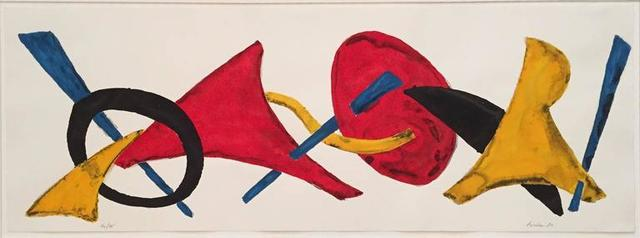 Herbert Ferber, 'Glover, Painted Abstract Silkscreen Sculptural Frieze', 20th Century, Lions Gallery