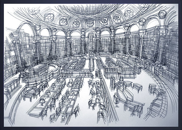 , '3 Sığınak_No1: Fransa Milli Kütüphanesi // 3 Asylum_No1: French National Library,' 2015, KUAD GALLERY