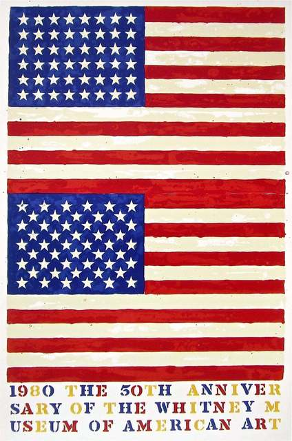 Jasper Johns, 'Double Flag, 1980 Whitney Museum of American Art Exhibition Poster', 1979-1980, Print, Lithograph on wove paper, Art Commerce