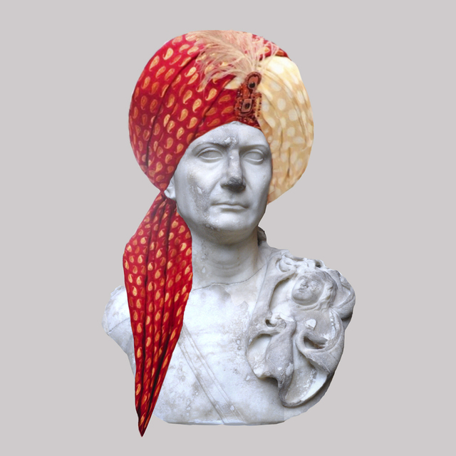 , 'Roman Emperor Trajan/Multicolor Indian Turban,' 2018, JAUS
