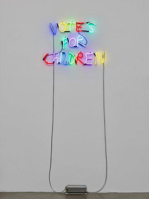 , 'Untitled (Neon Votes for Children),' 2018, Travesia Cuatro