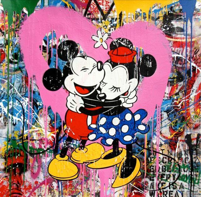, 'Mickey & Minnie (PINK LOVE),' 2017, Aurifer AG