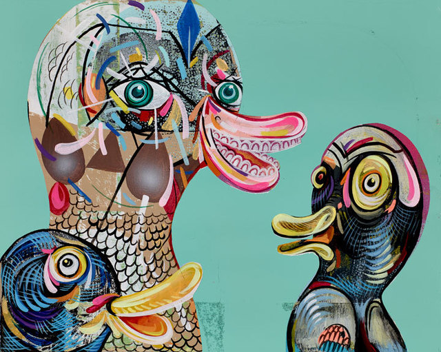 , 'Quack Cackle and Squawk ,' 2014, Mark Moore Fine Art