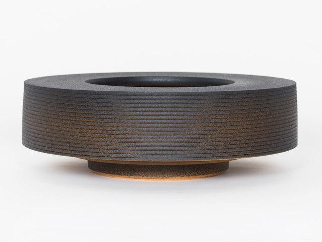 Ian McDonald, 'Soft Stoneware Low Form (Orange/Black)', 2019, Patrick Parrish Gallery