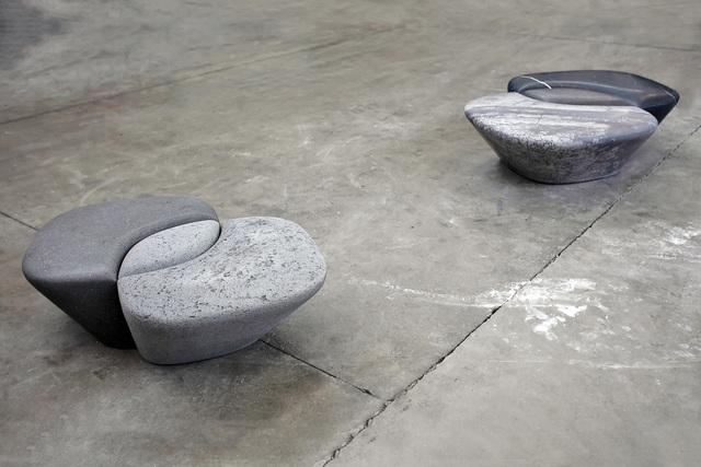 ", 'Bench ""métissage""  - in lava stone and marble,' 2015, Casati Gallery"
