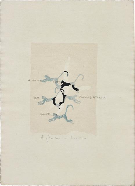 Alighiero Boetti, 'Senza Titolo (Correre e discorrere)', circa 1985, Phillips