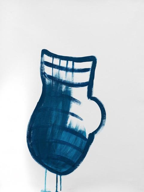 , 'jarra azul chorreante,' 2015, Otero