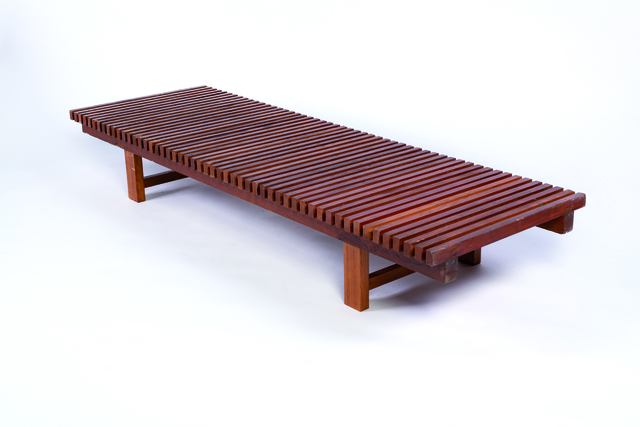 Charlotte Perriand, 'Bench in larch', vers 1969, Leclere